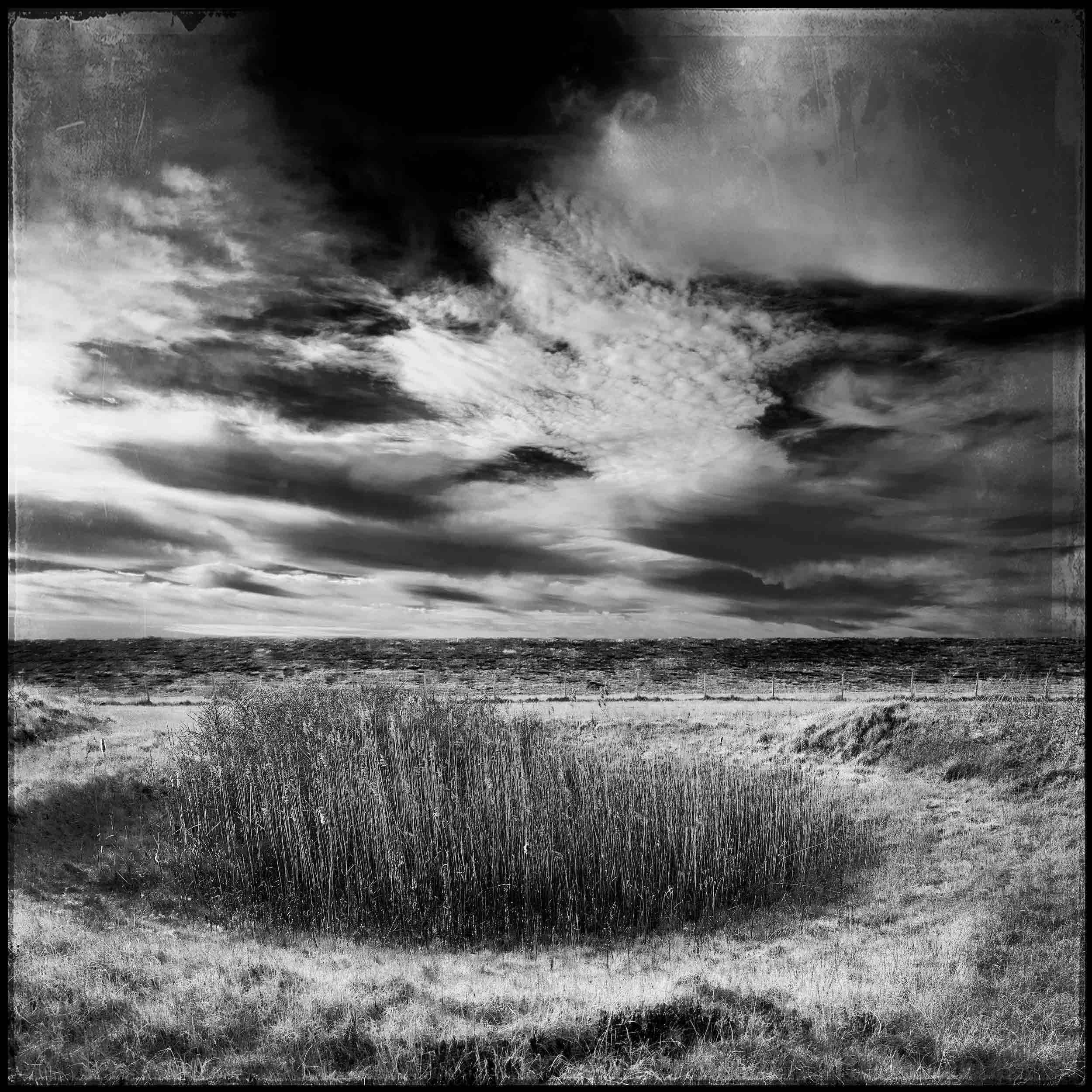 Steve Thornton Photographer create unique insite to a unique landscape on lincolnshire coast. Donna Nook. 4 Square Miles.